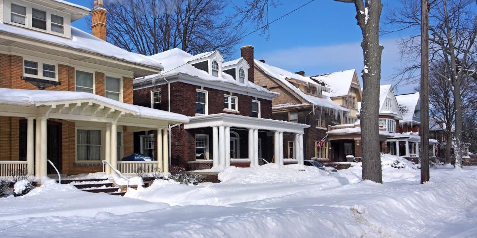 winter neighborhood home Yankee Thermal Imaging