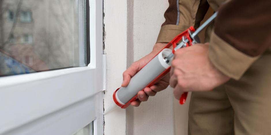window frame caulking